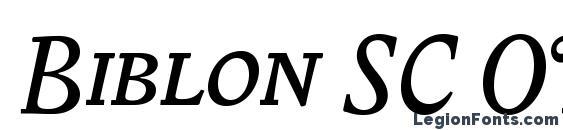 Biblon SC OT Italic Font