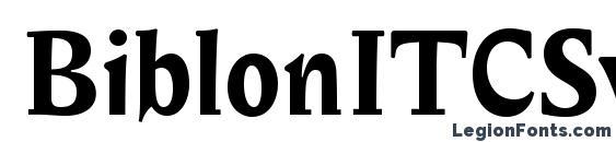 Шрифт BiblonITCSwash Bold