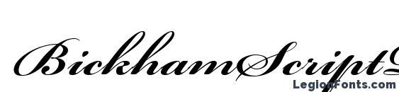 BickhamScriptPro Bold Font, Wedding Fonts