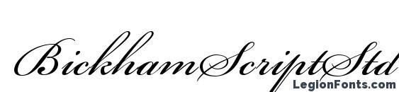 BickhamScriptStd Regular Font