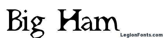 Шрифт Big Ham