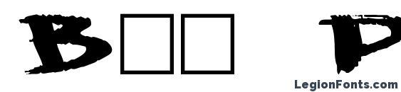 Big Plain Font