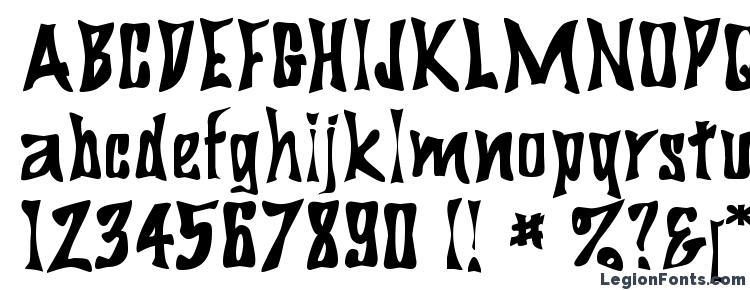глифы шрифта BigDaddy, символы шрифта BigDaddy, символьная карта шрифта BigDaddy, предварительный просмотр шрифта BigDaddy, алфавит шрифта BigDaddy, шрифт BigDaddy