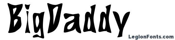 BigDaddy font, free BigDaddy font, preview BigDaddy font