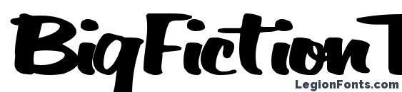 BigFictionText Bold Font