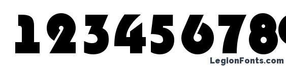 Шрифт Bighaustitul extrabold, Шрифты для цифр и чисел