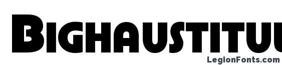 Bighaustitul extrabold Font, Free Fonts
