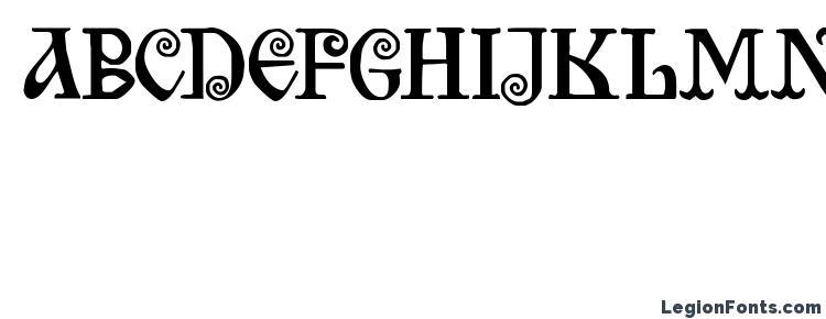 глифы шрифта Bilibin, символы шрифта Bilibin, символьная карта шрифта Bilibin, предварительный просмотр шрифта Bilibin, алфавит шрифта Bilibin, шрифт Bilibin