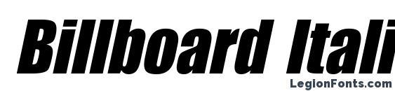 Billboard Italic font, free Billboard Italic font, preview Billboard Italic font