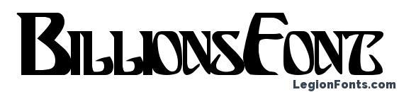 BillionsFont Bold font, free BillionsFont Bold font, preview BillionsFont Bold font
