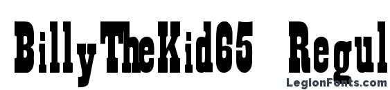 BillyTheKid65 Regular ttext Font, Stylish Fonts