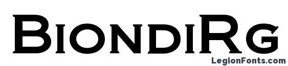 BiondiRg Regular font, free BiondiRg Regular font, preview BiondiRg Regular font