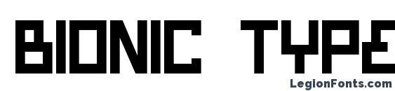 Шрифт Bionic Type Bold