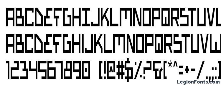 глифы шрифта Bionic Type Condensed, символы шрифта Bionic Type Condensed, символьная карта шрифта Bionic Type Condensed, предварительный просмотр шрифта Bionic Type Condensed, алфавит шрифта Bionic Type Condensed, шрифт Bionic Type Condensed