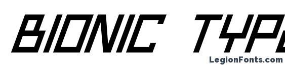 Шрифт Bionic Type Italic