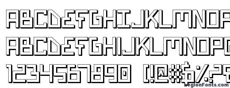glyphs Bionic Type Shadow font, сharacters Bionic Type Shadow font, symbols Bionic Type Shadow font, character map Bionic Type Shadow font, preview Bionic Type Shadow font, abc Bionic Type Shadow font, Bionic Type Shadow font