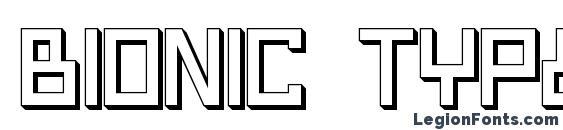 Шрифт Bionic Type Shadow, 3D шрифты