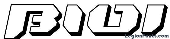 Шрифт Bionickidslanted3d