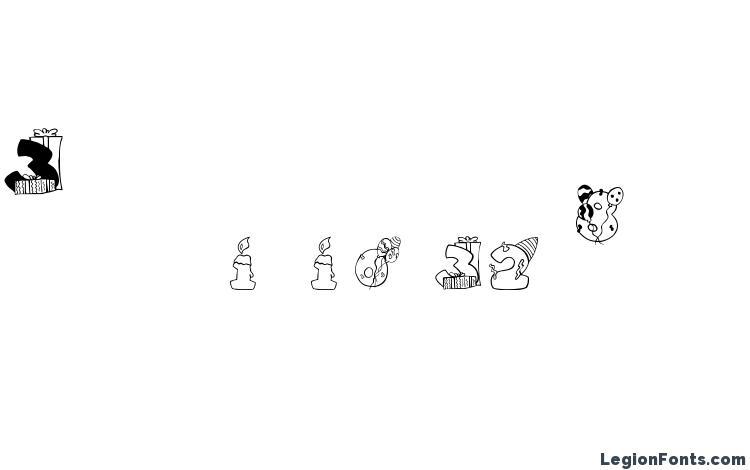 образцы шрифта Birthdaydigits, образец шрифта Birthdaydigits, пример написания шрифта Birthdaydigits, просмотр шрифта Birthdaydigits, предосмотр шрифта Birthdaydigits, шрифт Birthdaydigits