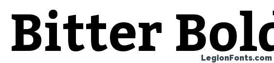 Bitter Bold Font