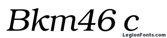 Bkm46 c Font