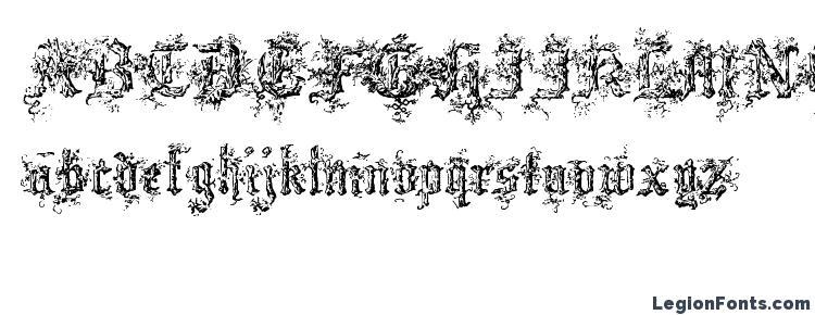 глифы шрифта Black Forest, символы шрифта Black Forest, символьная карта шрифта Black Forest, предварительный просмотр шрифта Black Forest, алфавит шрифта Black Forest, шрифт Black Forest