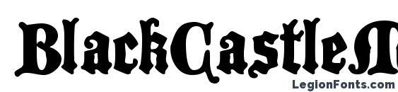 Шрифт BlackCastleMF