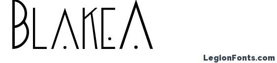 шрифт Blake2, бесплатный шрифт Blake2, предварительный просмотр шрифта Blake2