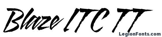 Blaze ITC TT Font, Halloween Fonts