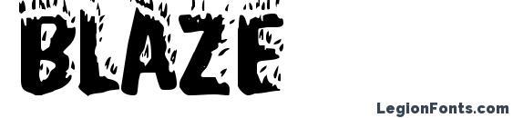 шрифт Blaze, бесплатный шрифт Blaze, предварительный просмотр шрифта Blaze