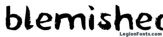 blemished font, free blemished font, preview blemished font