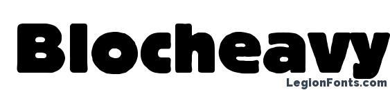 Blocheavyc Font, Russian Fonts