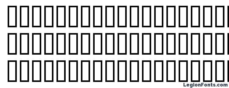 глифы шрифта Blockhead insecure, символы шрифта Blockhead insecure, символьная карта шрифта Blockhead insecure, предварительный просмотр шрифта Blockhead insecure, алфавит шрифта Blockhead insecure, шрифт Blockhead insecure