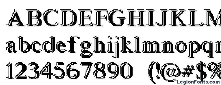 глифы шрифта Blockstepped, символы шрифта Blockstepped, символьная карта шрифта Blockstepped, предварительный просмотр шрифта Blockstepped, алфавит шрифта Blockstepped, шрифт Blockstepped