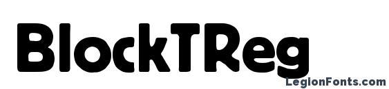 BlockTReg Font