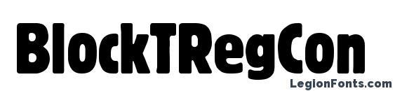 BlockTRegCon font, free BlockTRegCon font, preview BlockTRegCon font