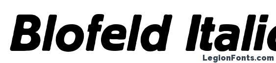 Шрифт Blofeld Italic