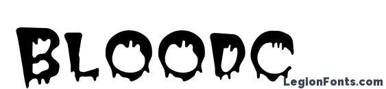 Bloodc Font