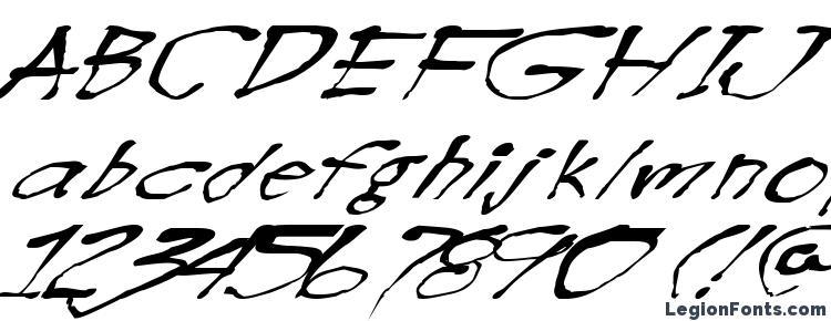глифы шрифта Blotw, символы шрифта Blotw, символьная карта шрифта Blotw, предварительный просмотр шрифта Blotw, алфавит шрифта Blotw, шрифт Blotw