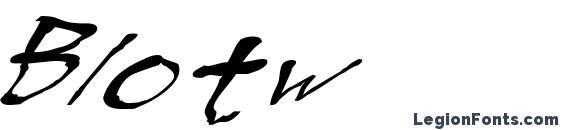 Шрифт Blotw