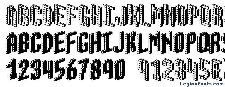 глифы шрифта Blox (BRK), символы шрифта Blox (BRK), символьная карта шрифта Blox (BRK), предварительный просмотр шрифта Blox (BRK), алфавит шрифта Blox (BRK), шрифт Blox (BRK)