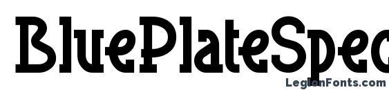 BluePlateSpecialSW Font