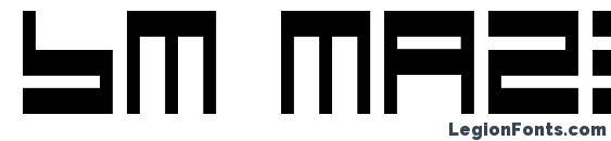 Шрифт Bm maze a9