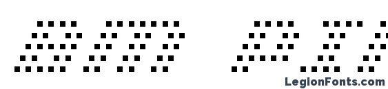Bm pinhole a13 Font