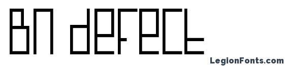 Шрифт Bn defect