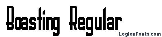 Boasting Regular font, free Boasting Regular font, preview Boasting Regular font