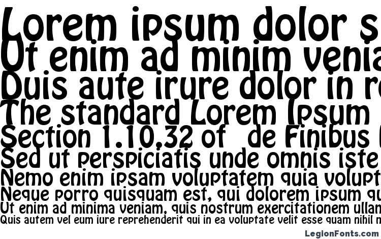 specimens Bobo font, sample Bobo font, an example of writing Bobo font, review Bobo font, preview Bobo font, Bobo font