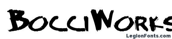 BocciWorksBold55 Bold ttext Font