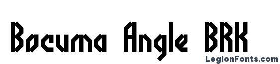 Bocuma Angle BRK Font