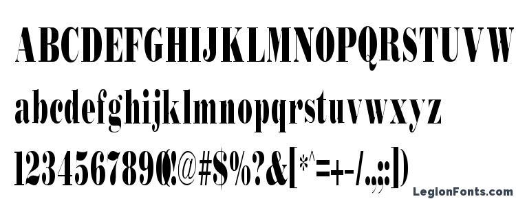 глифы шрифта Bodidly Condensed, символы шрифта Bodidly Condensed, символьная карта шрифта Bodidly Condensed, предварительный просмотр шрифта Bodidly Condensed, алфавит шрифта Bodidly Condensed, шрифт Bodidly Condensed